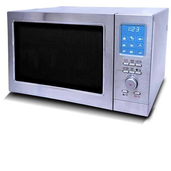 Renewed, refurbished microwave with hot air and grill function